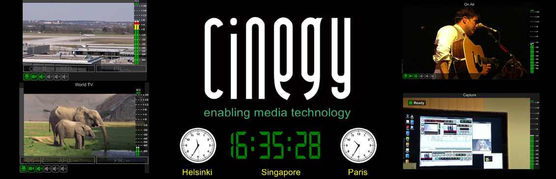 from Cinegy Air or Cinegy Capture servers